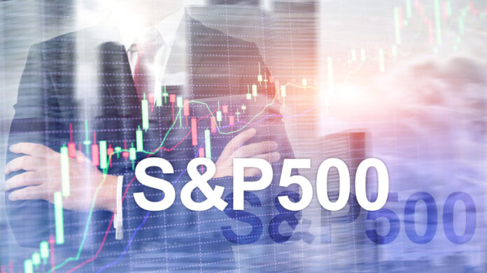 American stock market index S&P 500 - SPX. Financial Trading Business concept. economy