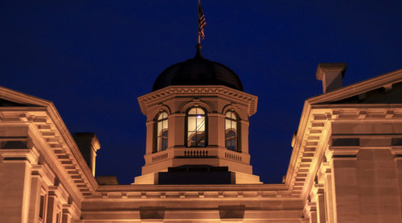 Court house at night