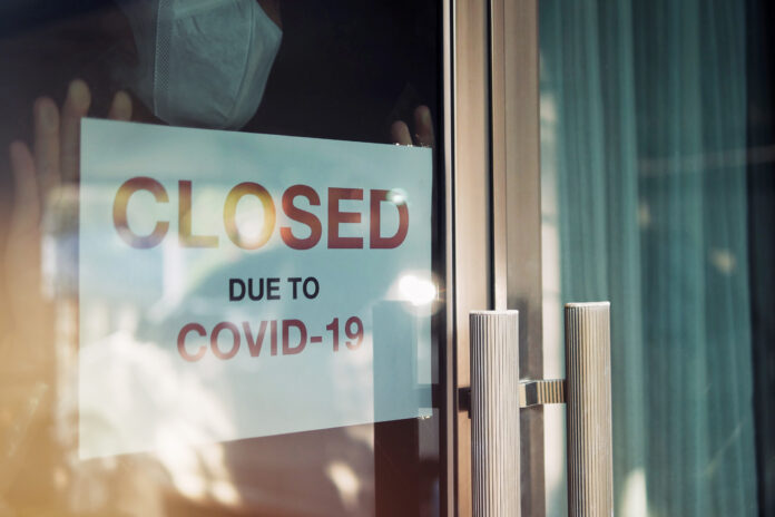 businesses closed due to COVID-19 lockdowns