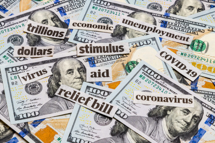 stimulus bill coronavirus relief words on money