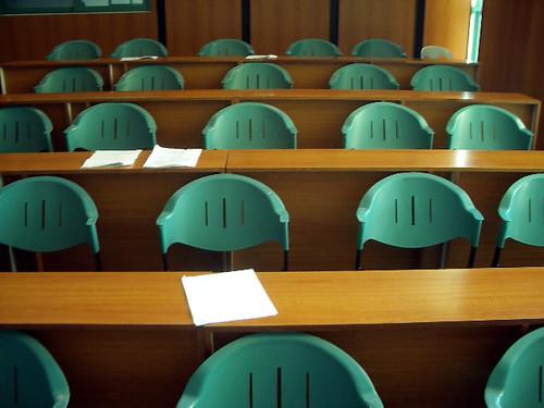 empty classroom in schools