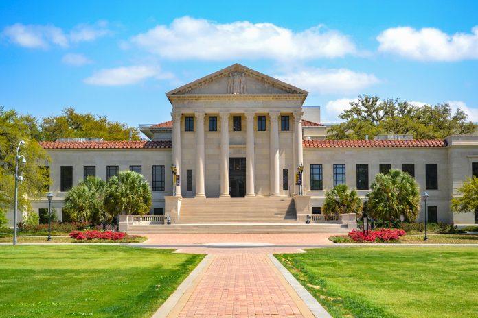 LSU Louisiana State University Law Building in Baton Rouge Louisiana LA.