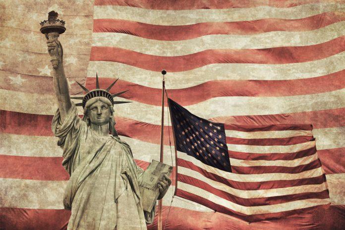 Lady Liberty America Flag