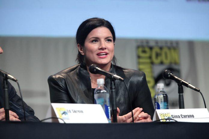 Gina Carano at a Comic Con Panel
