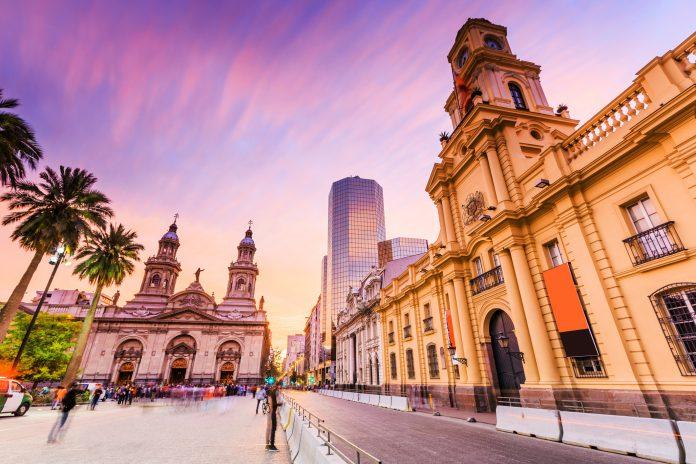 Plaza de Armas in Santiago de Chile, Chile